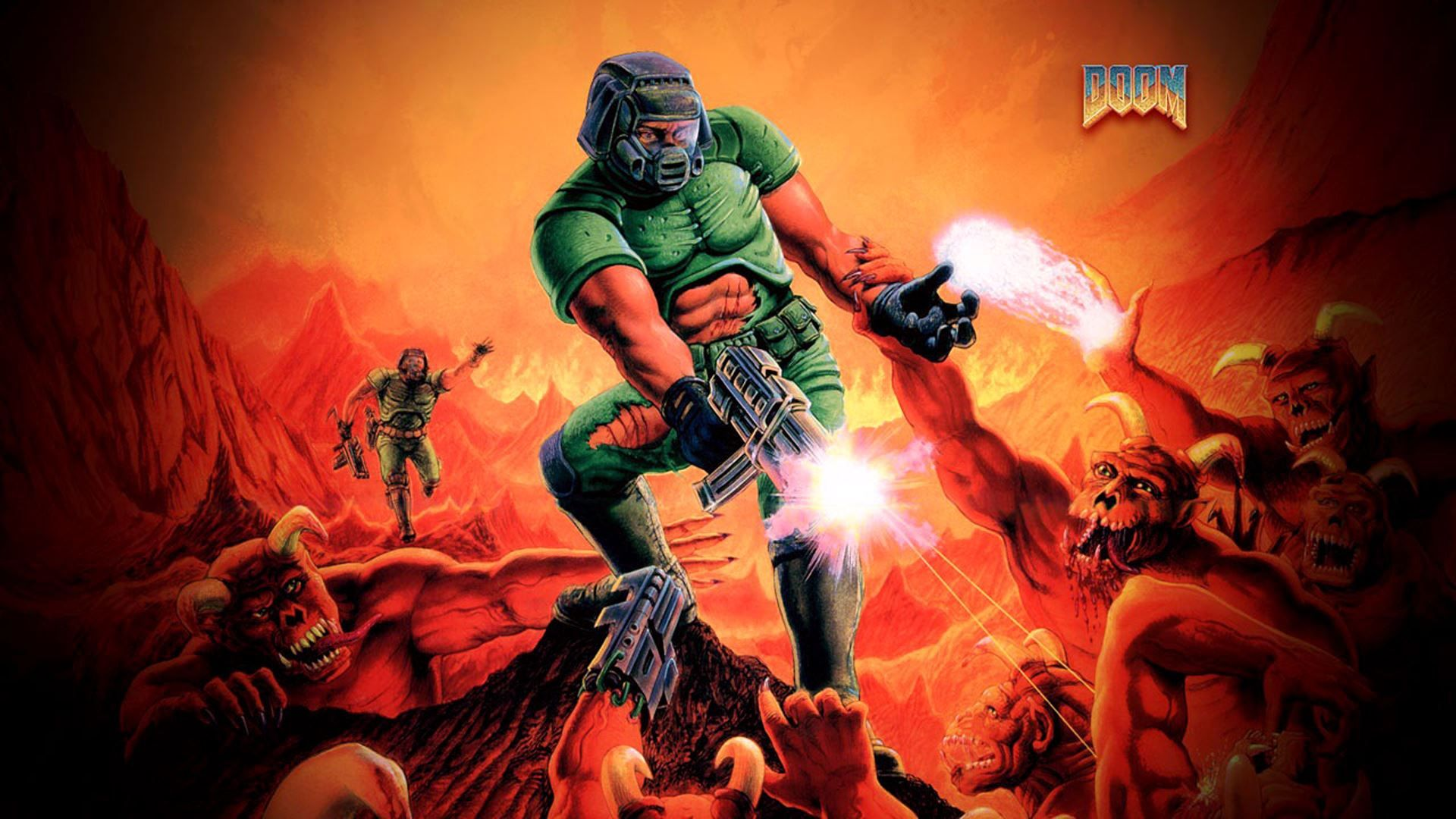 image (1920×1080) Play doom, First person shooter, Doom game