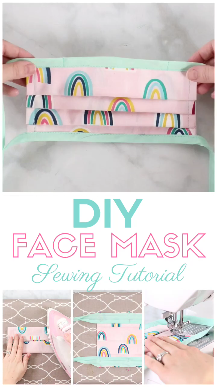 Photo of How to Sew a Bias Tape Surgical Face Mask with Flexible Nose | Sweet Red Poppy