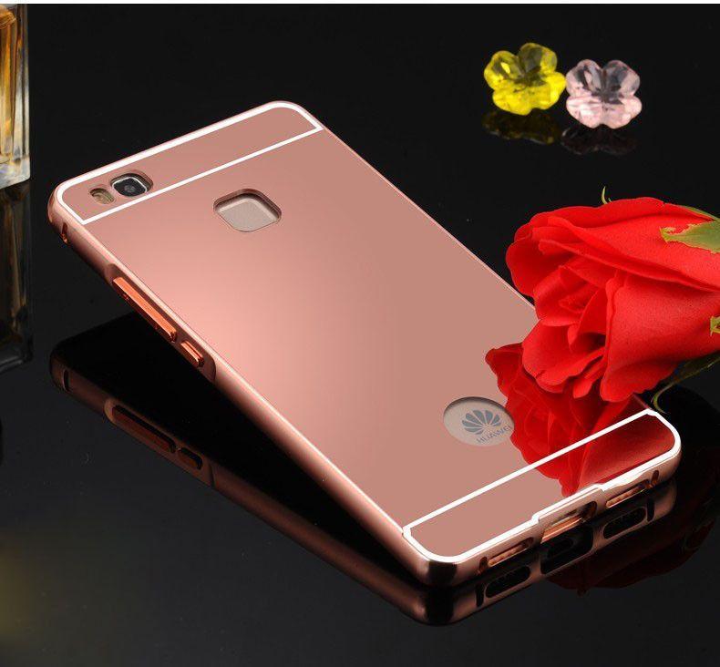 For Huawei P9 lite Case Aluminum Metal Frame Bumper Mirror Plating ...