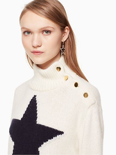 462a159ba55 Kate Spade Star Turtleneck Sweater