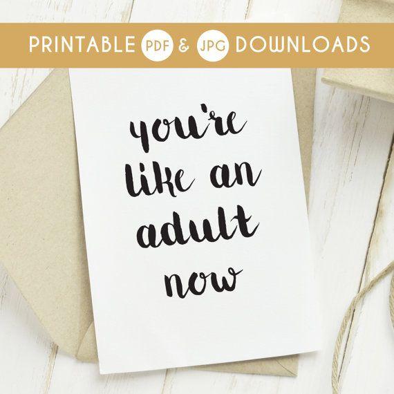 Printable Card Funny Birthday Card Printable Funny Birthday Card