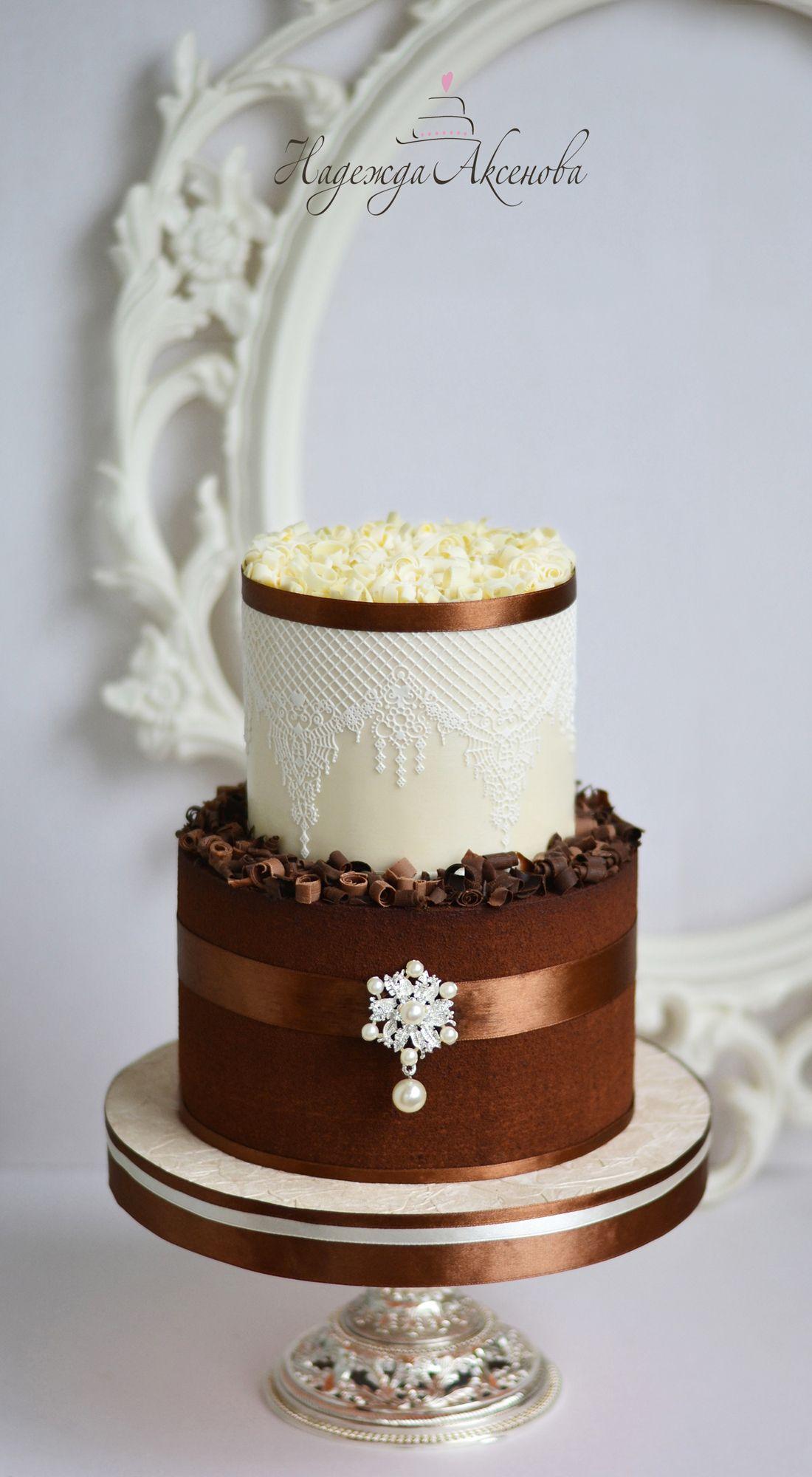 Wedding Cakes in Chocolate Elegant Chocolate Wedding Cake velvet ...