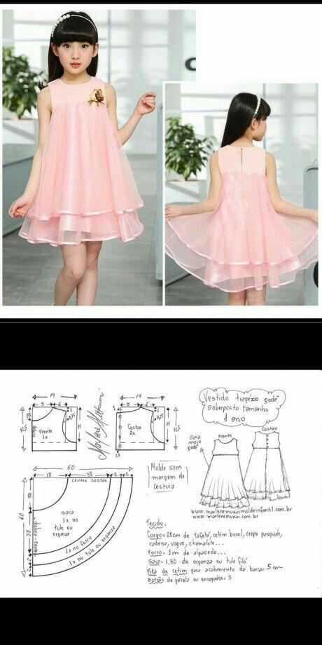 Vestido niña | Confección y costuras | Pinterest | Vestidos de niñas ...