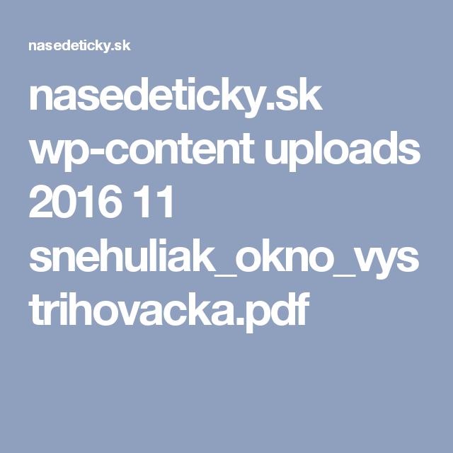 nasedeticky.sk wp-content uploads 2016 11 snehuliak_okno_vystrihovacka.pdf