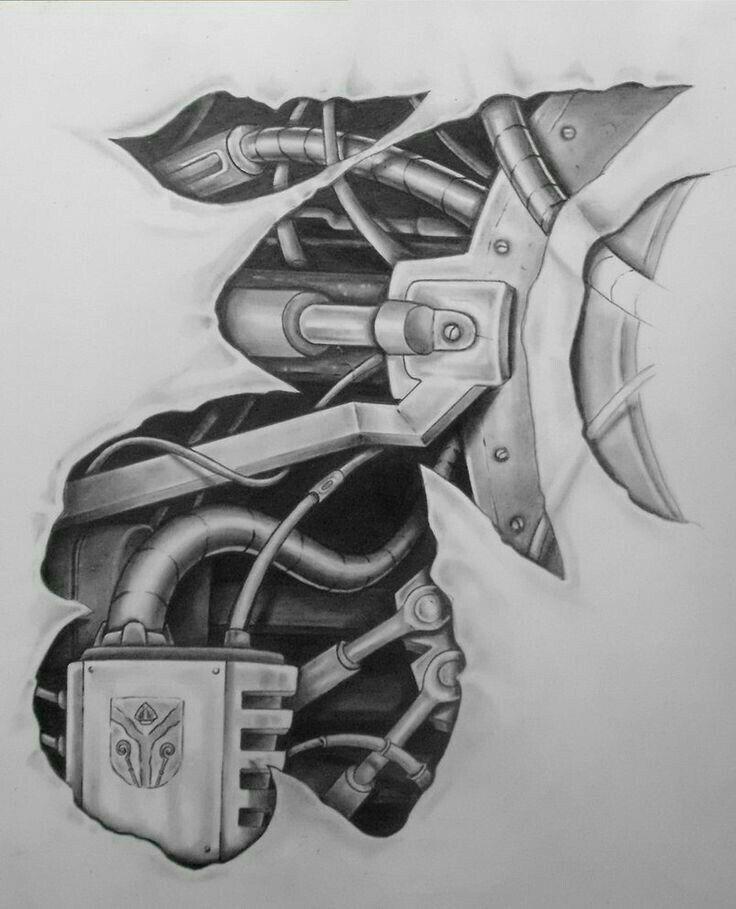 Robotic tattoo design