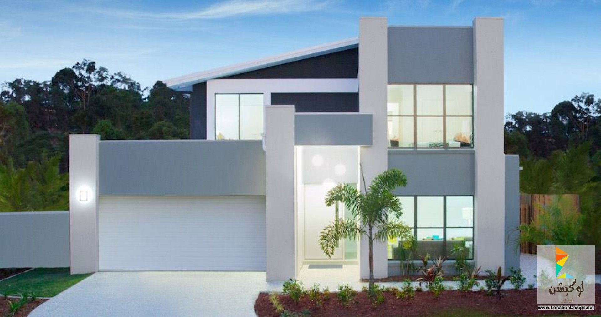 تصميم واجهات منازل مودرن لوكيشن ديزاين تصميمات ديكورات أفكار جديدة مصر Locationdesign Com House Modern Family House House Design