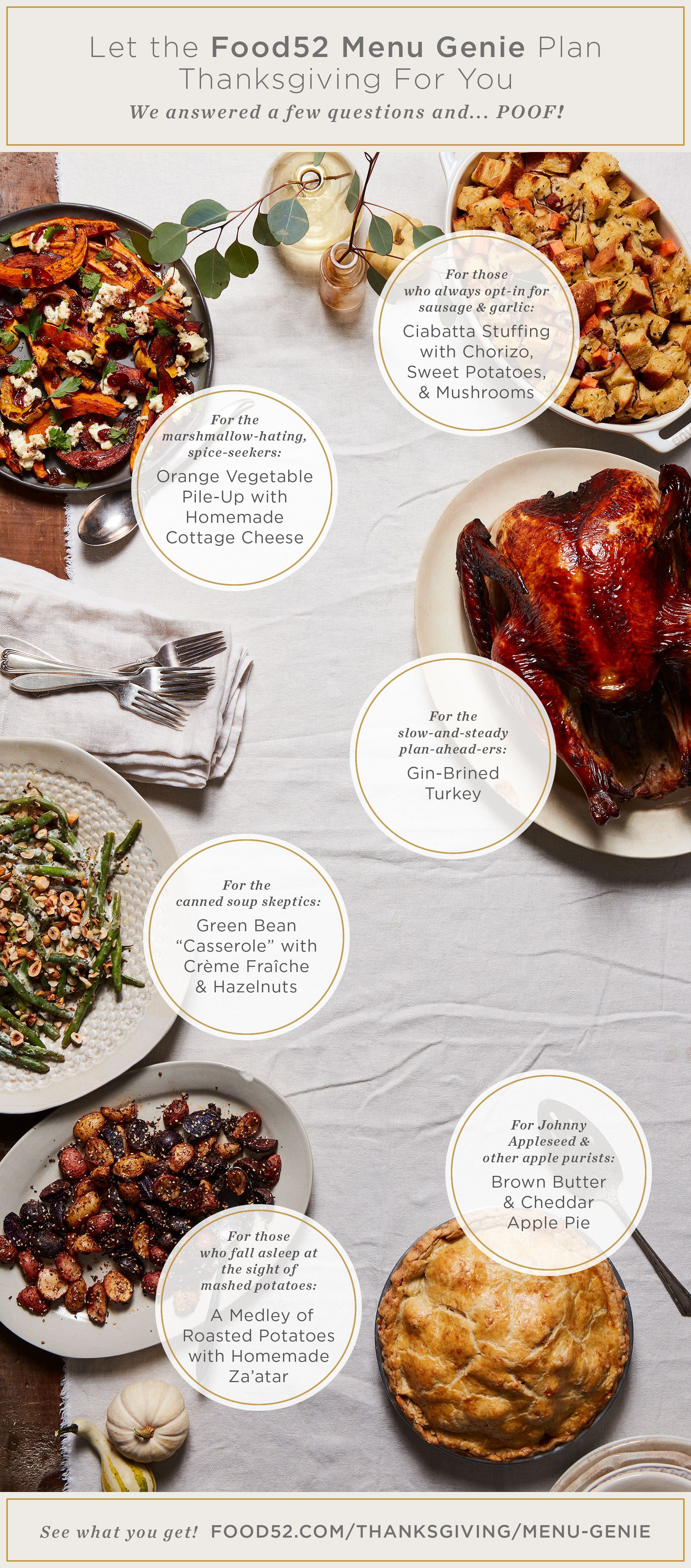 Our Thanksgiving Genie is here to make your holiday menu a