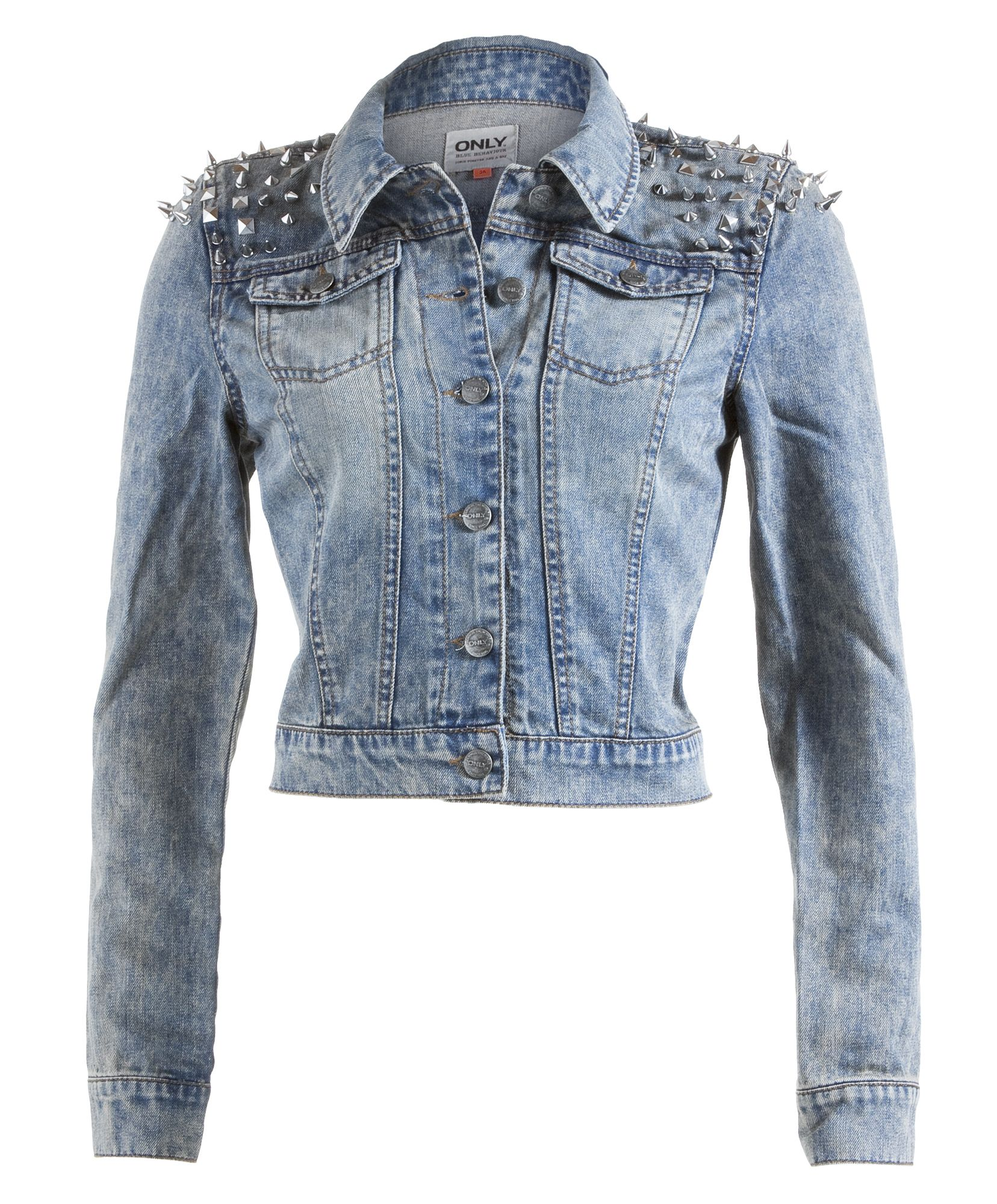 Only denim jacket with studs on the shoulder. Very cool. #ONLYDenimStyle