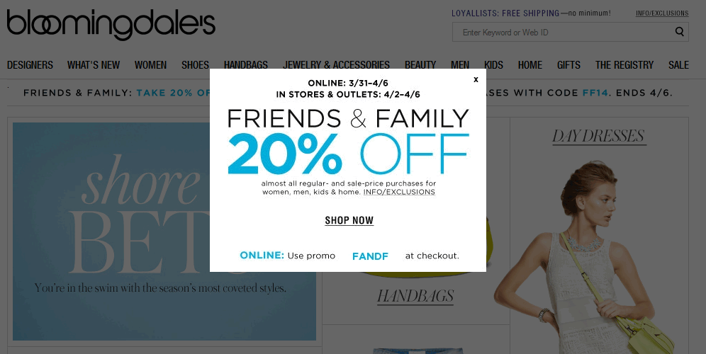Pinned April 1st 20 Off At Bloomingdales Or Online Via Promo Code Fandf Coupon Via The Coupons App Coupon Apps App Kids House