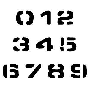 Free Printable Number Stencils | Free printable numbers, Free ...