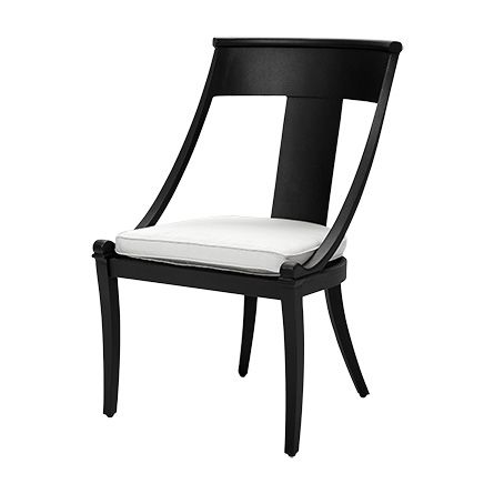 Contemporary Crete Outdoor Slope Arm Dining Chair Beautiful - Best of canvas chair Modern