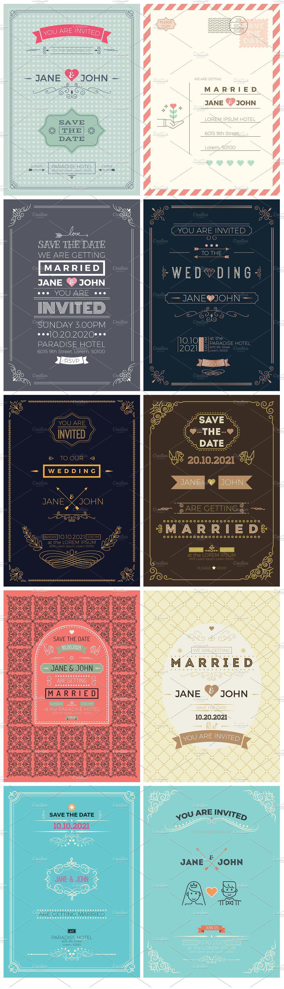 30 Wedding Invitations Value Pack Wedding Invitation Card Template Wedding Invitation Cards Wedding Card Templates