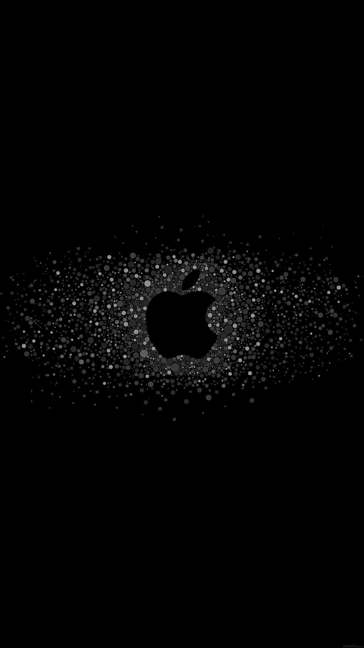 Nice Logo Art Apple Rainbow Minimal Dark Iphone6 Plus Wallpaper