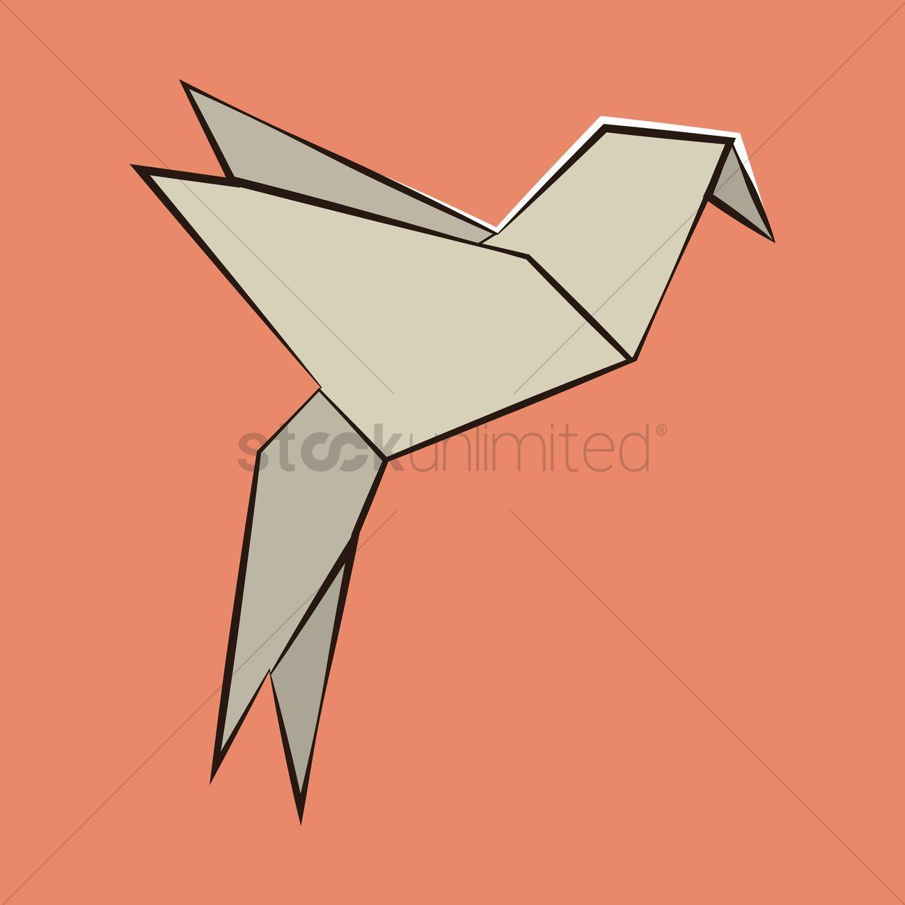 Photo of Origami bird vector illustration , #affiliate, #bird, #Origami, #illustration, #…