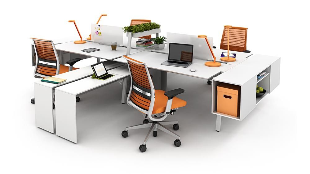 Bivi Collection Of Modular Office Desk Systems Turnstone Modular Office Office Desk Open Office Furniture