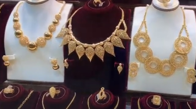 اسعار الذهب اليوم في السعودية اليوم الاثنين 2 شوال 1441 هـ Gold Set Gold Statement Necklace