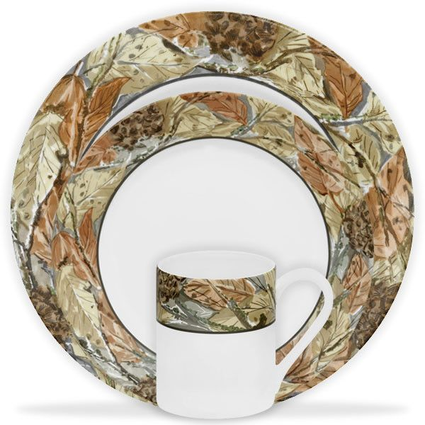 Outstanding Corelle Impressions Woodland Leaves Serving Pieces ...