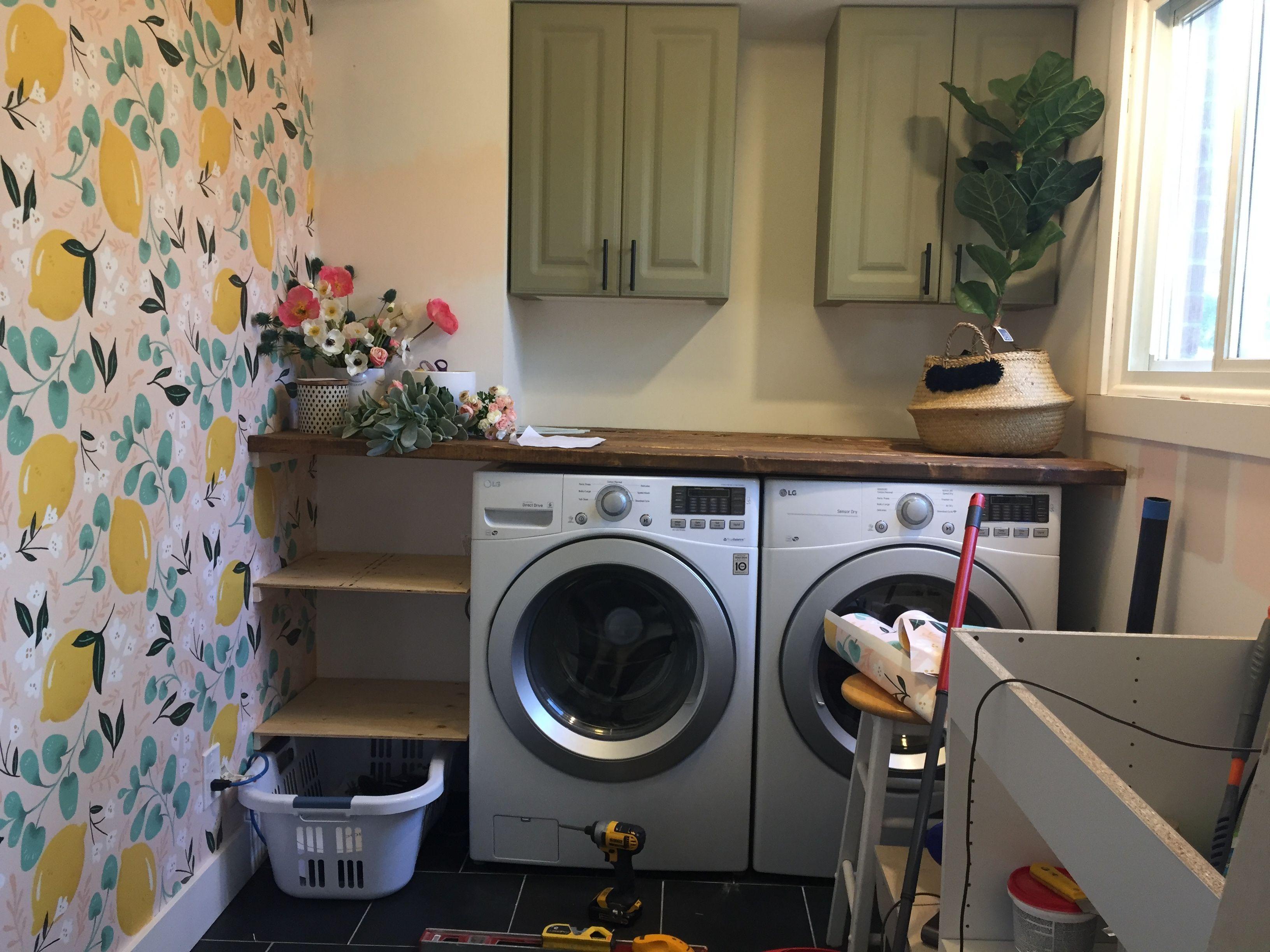 Diy Inexpensive Wood Countertop Wood Countertops Laundry Room