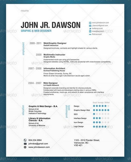 25 modern and professional resume templates ginva - Free Modern Resume Template