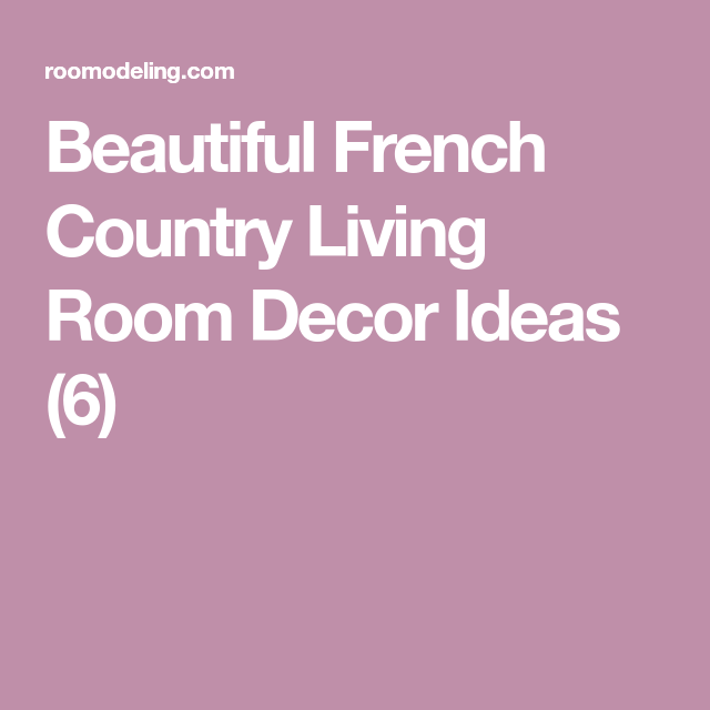 Beautiful French Country Living Room Decor Ideas (6 | French country ...