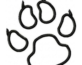 Panther Paw Print Coloring Page