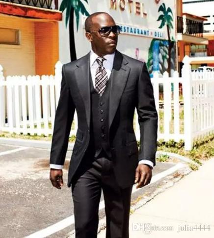 Three Pieces Pant Jacket Tie Vest Black Suit Formal For Black Man Tuxedos For Men Mens Prom Suits Groomsmen Suits For Well Dressed Men Stylish Men Men Dress