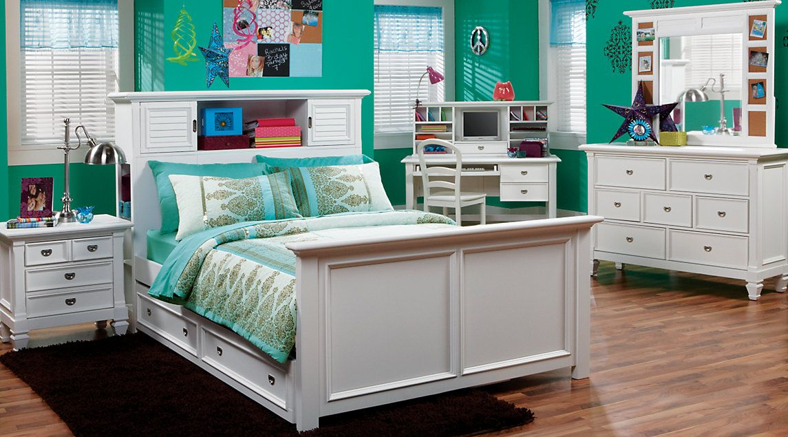 Belmar White 6 Pc Full Bookcase Bedroom Camilleu0027s Room