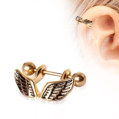 Piercing cartilage pendentif aile d/'ange