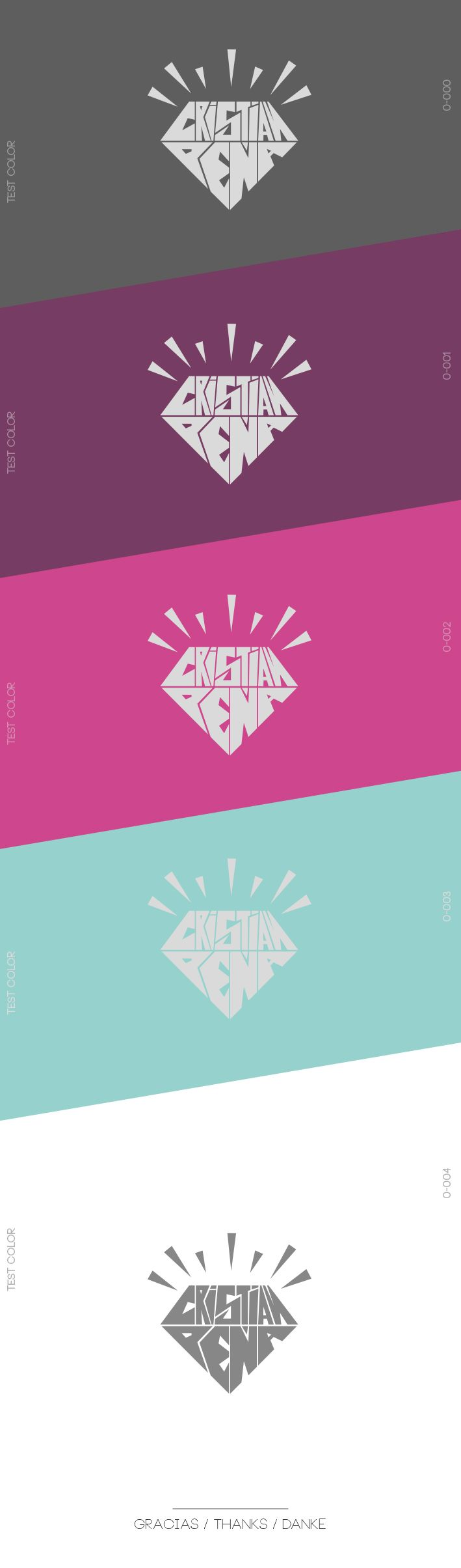 Diamond Logo on Behance. Design by Cristian Pena. #logodesign ...
