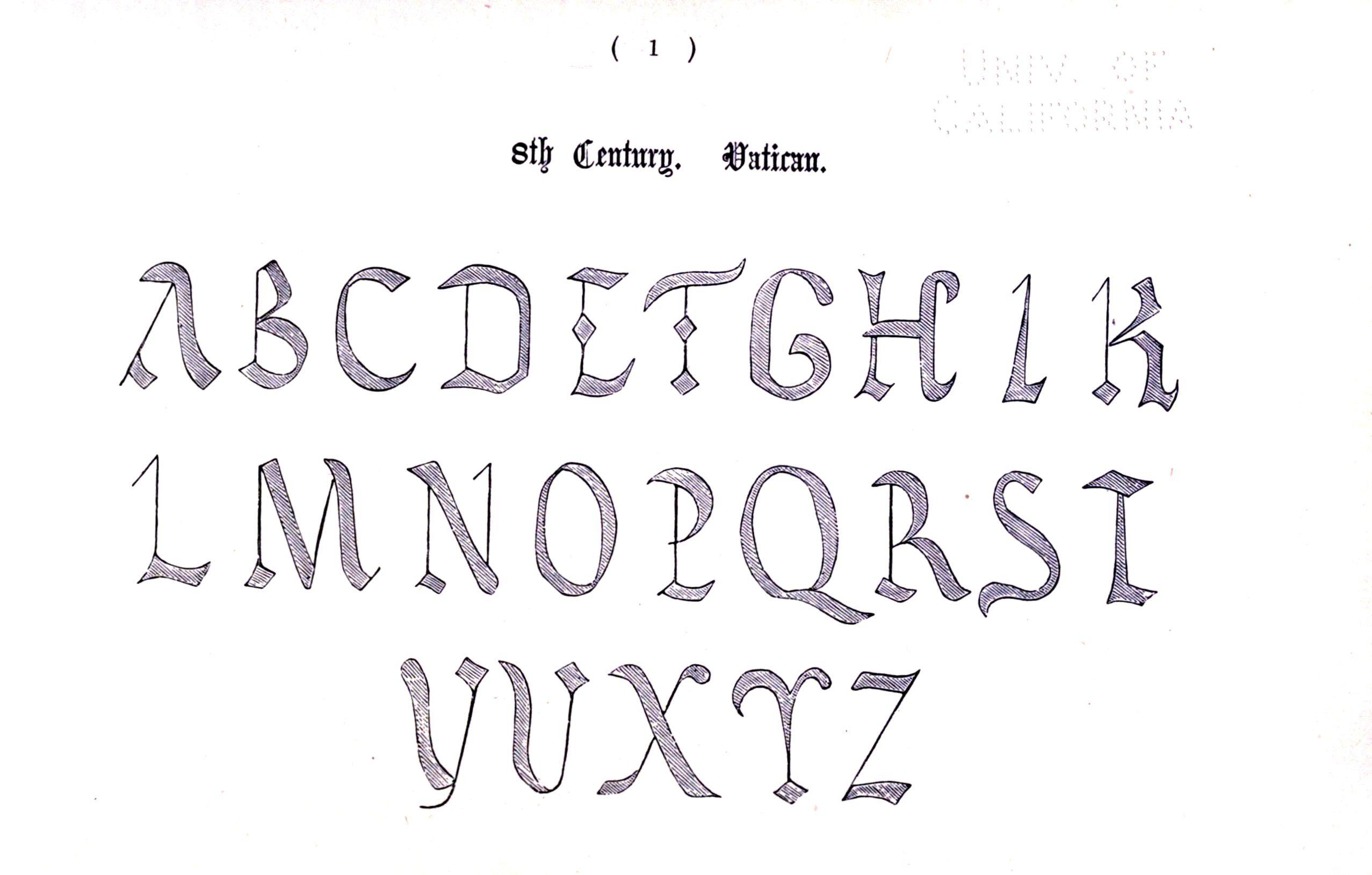 Typography Alphabet Ornamental Renaissance Medieval 1