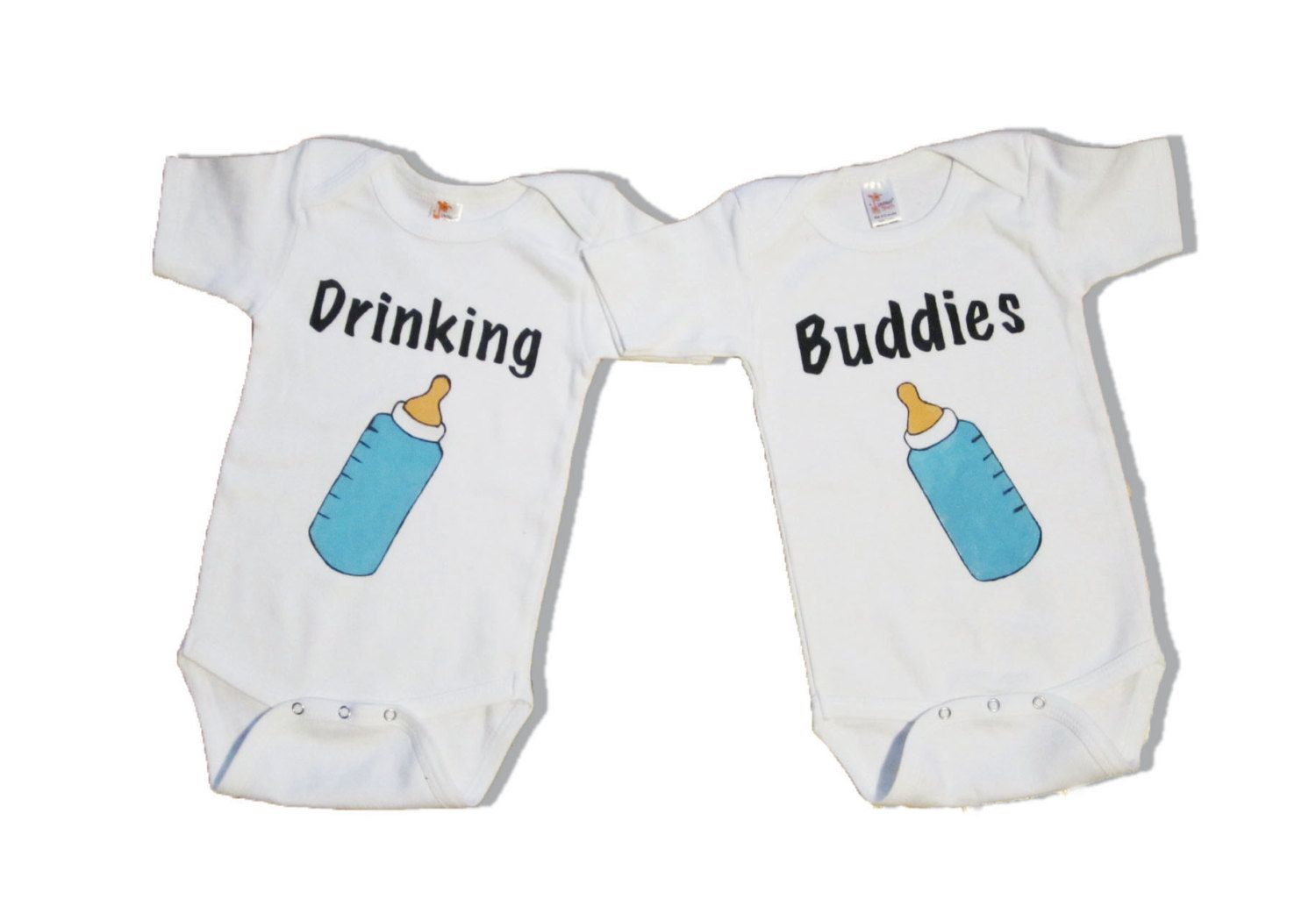 Twin Funny Onesieshirt - Twin Clothing - Hand Painted -6455
