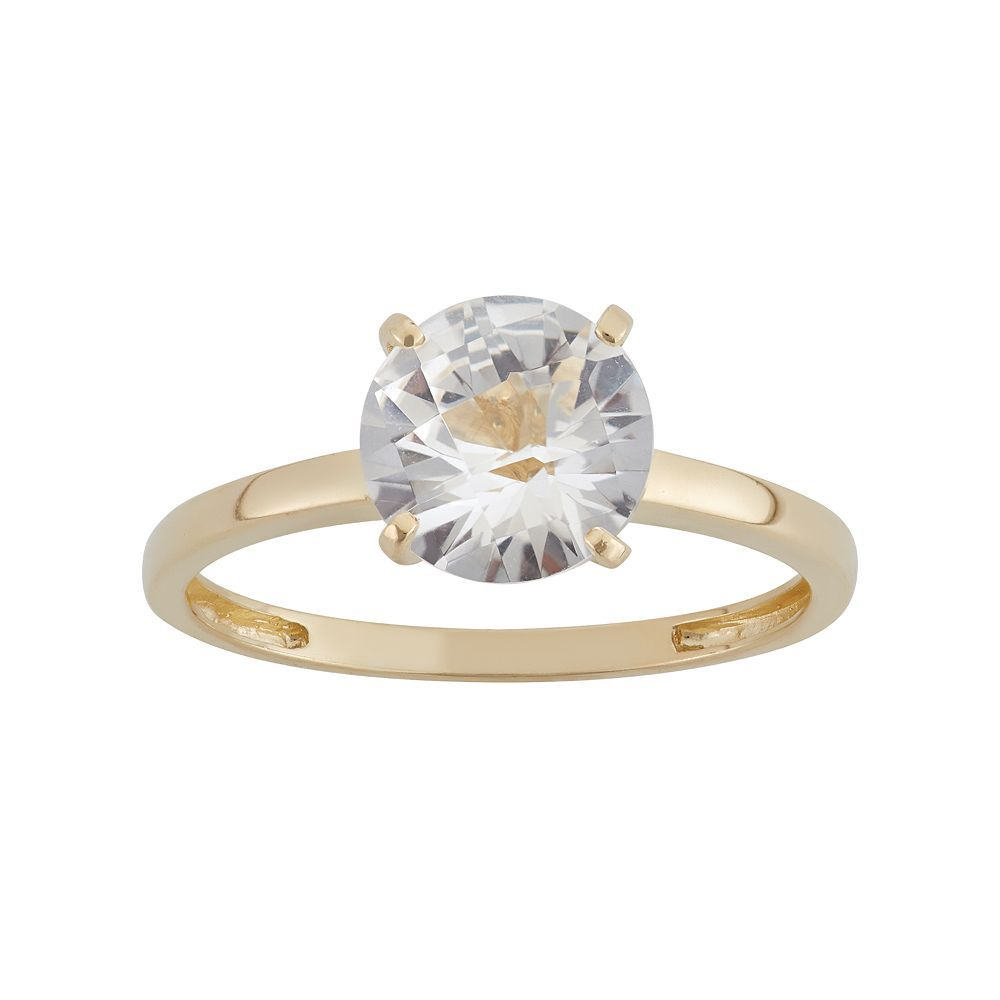 White Diamond Ring 10k Yellow Gold 90ctw Sbg056 In 2020 White Diamond Ring Yellow Gold Rings White Gemstone