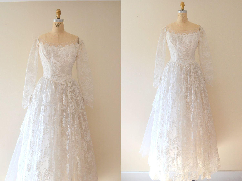 Lace dress 50s  s wedding dress  vintage s wedding dress  s dress  s