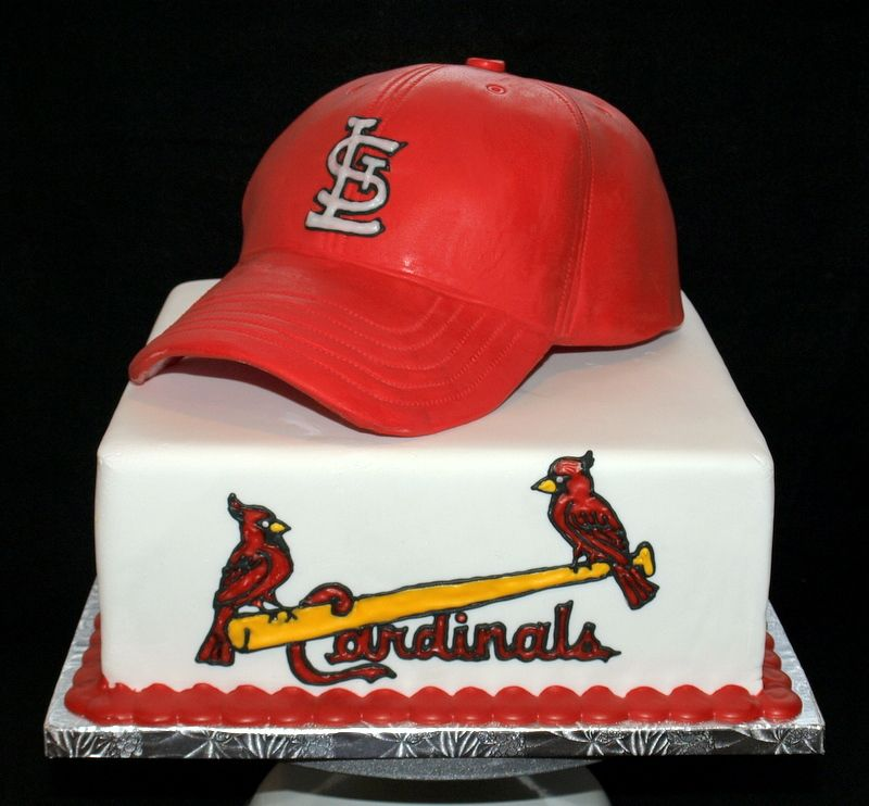Outstanding St Louis Cardinals Cake Custom Cakes For Your Wedding Birthday Funny Birthday Cards Online Fluifree Goldxyz