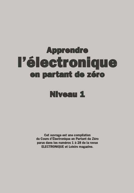 Apprendre L Electronique En Partant De Zero Niveau 1 Pdf Gratuit Electronique Cours Electronique Livre Electronique