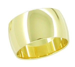 Women S 10mm Wide Wedding Band Ring In 14 Karat Yellow Gold Wedding Ring Bands Gold Wedding Bands Women Wide Wedding Bands
