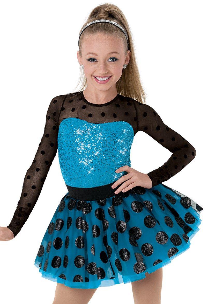 1c0cb50cdf7f Weissman™   Polka Dot Mesh Sequin Party Dress   Dance Costumes in ...