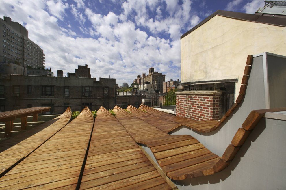 Parfait Toit Terrasse En Bois Original à Greenwich Village Nice Look