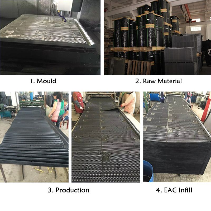 Bac Cooling Tower Fills Production Process Cooling Tower Tower