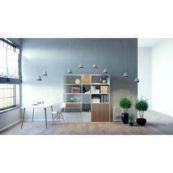 Photo of Regalsystem Weiß – Regalsystem: Schubladen in Weiß & Türen in Eiche – Hochwertige Materialien – 190
