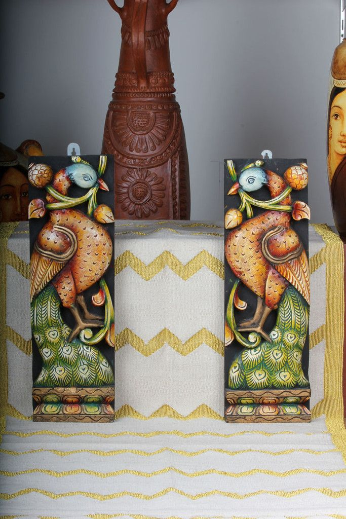 Wooden Peacock Panels- Peacock Design
