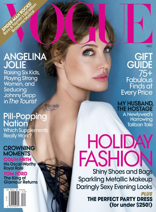 Cover Beauty Get Angelina Jolie S Makeup Look From The December Vogue Magazine