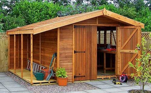 Build a garden shed yourself with a woodworkingplan? Build yourself a beautiful garden shed of wood with this step by step woodworkingplan for a shed!