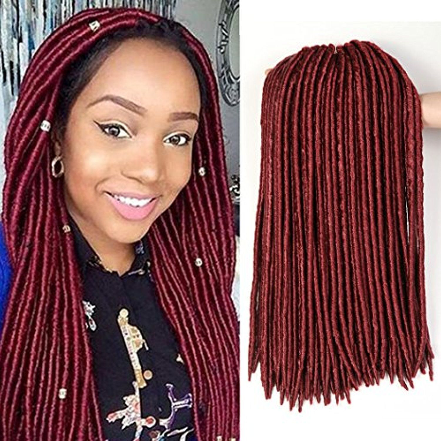 18 Inch 3 Packs Goddess Faux Locs Crochet Hair Extensions