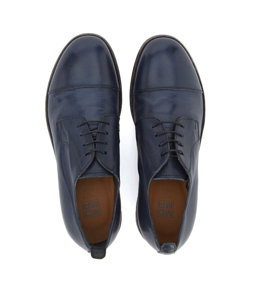 Moma - Moma Blue Leather Lace Up Shoes - BLU 8632c42ed6d