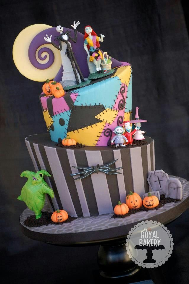 nightmare before christmas cake this is absolutely amazing i love sallys part