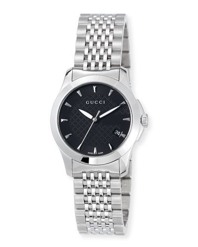 89731a3a511 GUCCI 27MM G-TIMELESS SMALL STAINLESS STEEL BRACELET WATCH