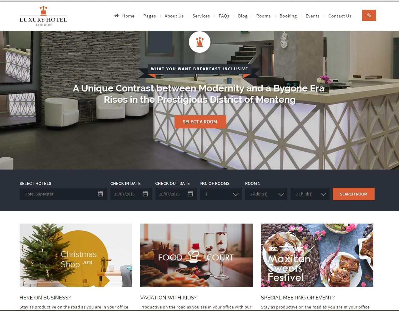 Luxury Online Hotel Booking Reservation Theme Hotel Hotel Reservations Room Booking System
