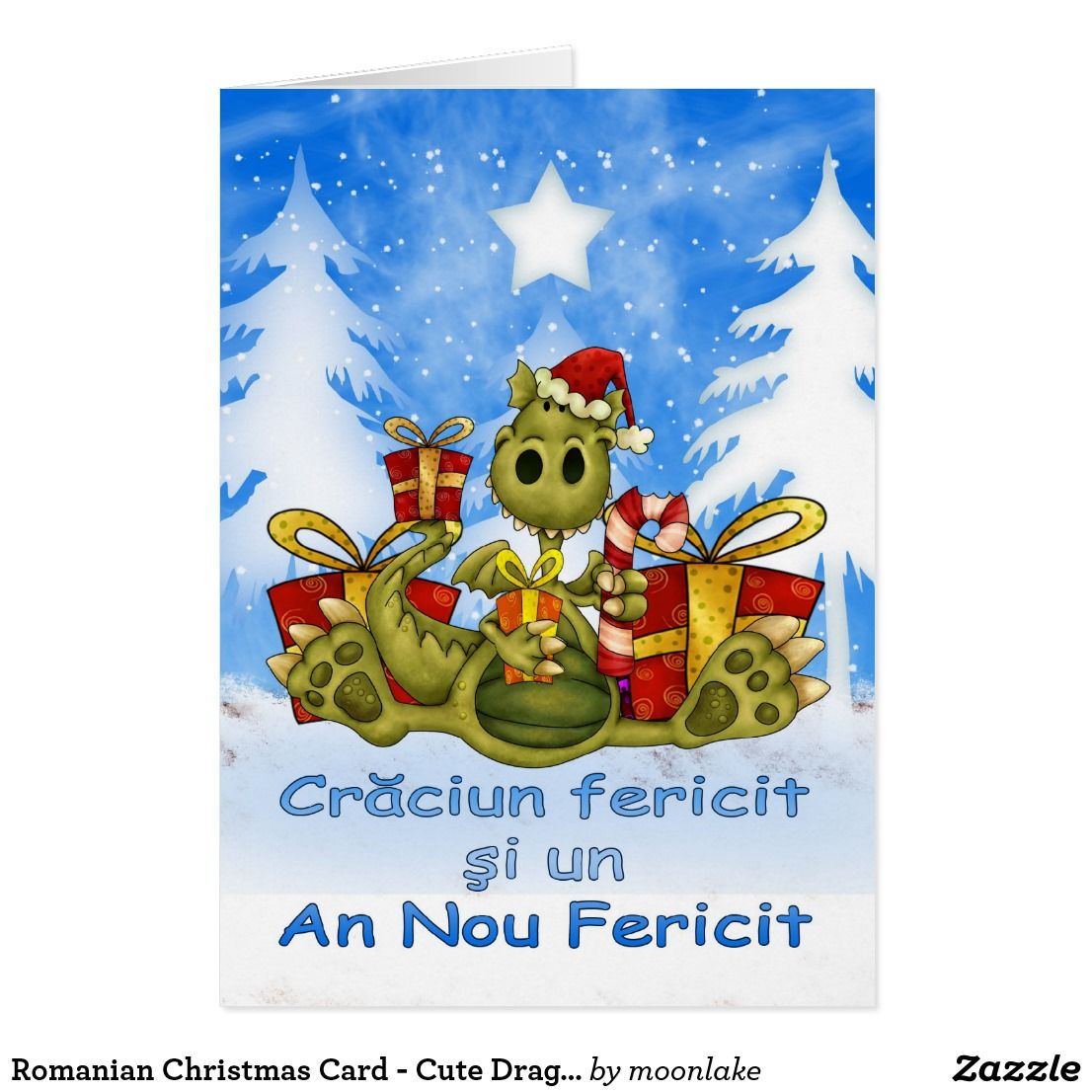 Romanian christmas card cute dragon craciun fe custom romanian christmas card cute dragon craciun fe m4hsunfo