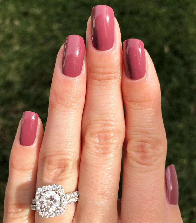 Essie - Angora Cardi - deep dusty rose - dark mauve nails - winter manicure